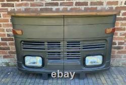 Retro Vintage inspired Truck Lorry Bus Home Bar / Counter / Sideboard Matt Black