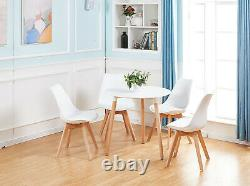 Round Dining Table White Retro Design Office Kitchen Dining Room Table 8070 cm