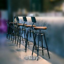 Rustic Industrial Vintage Retro Metal Breakfast Bar Stool Kitchen Counter Chair