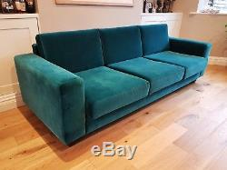 SWOON EDITIONS LARGE 4 SEATER TEAL SOFA RETRO 50s 60s 70s VINTAGE DANISH STYLE