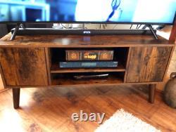 Scandinavian TV Stand Mid Century Media Unit Large Vintage Cabinet Retro Storage