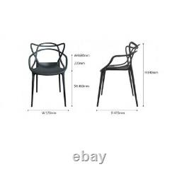 Set of 2/4/6 Masters style Lounge Kitchen Dining Chair Retro Garden OutdoorPatio
