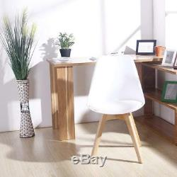 Set of 4 Dining Chair Retro Dining Room Set Table Chairs Home Office Wooden Legs