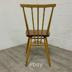 Set of 4 Ercol Model 391 All Purpose Elm and Beech Dining Kitchen Chairs Vintage