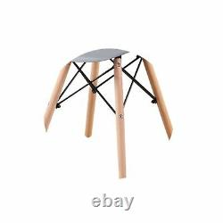 Set of 6 Dining Chairs Retro Wooden Legs Office Kitchen Lounge Chair Grey