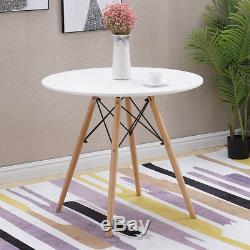 Set of Wooden Design Dining Chairs Tulip Chair Retro Plastic Lounge Kitchen