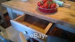Shabby Chic Cottage Vintage Kitchen Dining Table And 4 Chairs
