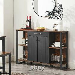 Slim Hallway Console Table Kitchen Industrial Storage Cupboard Sideboard Rustic