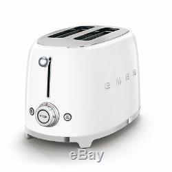 Smeg TSF01WHUK White 50s Retro Style 2 Slice Toaster 2 Year Guarantee NEW