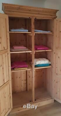 Solid Pine Vintage Bespoke Linen Cupboard Kitchen Pantry Larder