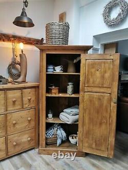 Solid Pine Vintage Kitchen Pantry Larder Cupboard Bookcase Housekeepers