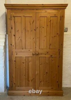 Solid Pine Vintage Narrow Kitchen Pantry Larder Cupboard/Bookcase / Housekeepers