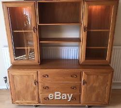 Stunning Ercol Windsor Sideboard Display Cabinet Retro Vintage