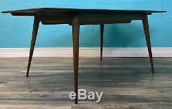 Stunning MID Century Vintage Retro Figured Walnut Extending Dining Table