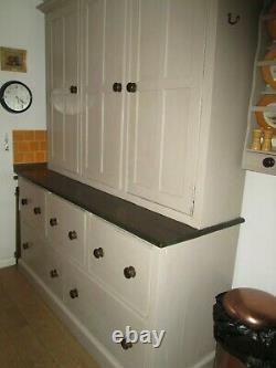 Superb Large Vintage Pine Larder Cabinet Dresser Cupboard Storage Solid Wood