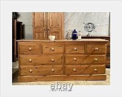 Superb Vintage Haberdashery Apothecary Bank Chest of Drawers Dove tail joints