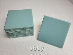 Surf Green 4 in Ceramic Tile 4.25 in Blue Aqua Glow Daltile Color 0197 Color 105