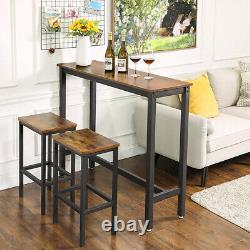Tall Breakfast Bar Table Industrial Kitchen Dining Room Furniture Vintage Retro