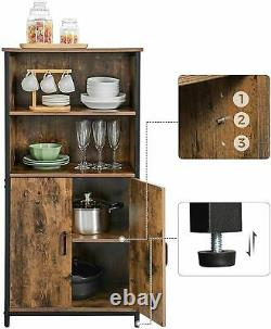 Tall Industrial Cabinet Cupboard Kitchen Pantry Bookcase Vintage Style Unit Rack