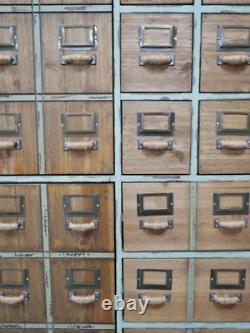 Tall Industrial Cabinet Vintage Retro Apothecary Rustic Metal Storage Tallboy