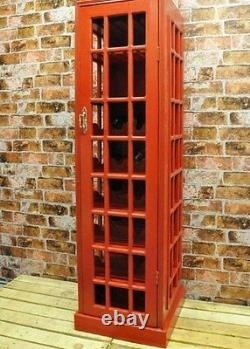Tall Wine Rack Retro Vintage Cabinet Wooden Industrial Style Bottle Storage Hold