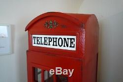 Telephone Box Display Cabinet In Red British Telephone Box Display