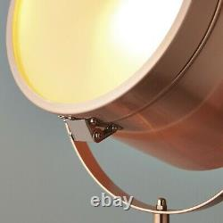 Tripod Lamp Chic White & Copper Floor Lamp Retro Vintage Studio Spot Light