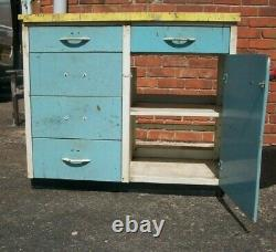 Two Vintage Metal Kitchen Units / Cupboards / Use / Restore / Upcycle