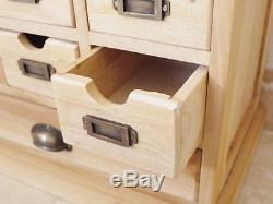 Unfinished Cabinet multi drawer chest 25 drawers vintage Pigeon hole chest
