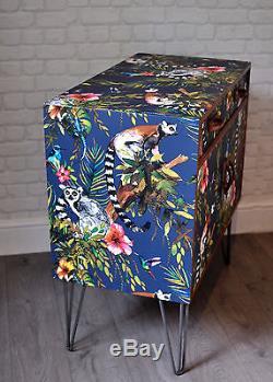 Upcycled Vintage Retro G Plan Cabinet Lemur Decoupage Mid Century TV Stand