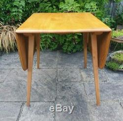 VGC Vintage Ercol Blonde Windsor Rectangular Drop leaf Dining table and 4 chairs