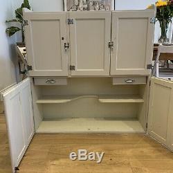 VINTAGE 1950s LARDER CUPBOARD Clerks Dresser Top Postal Cabinet Kitchen F&B
