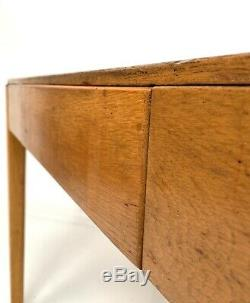 VINTAGE WOODEN WRITING DESK / KITCHEN DINING TABLE 1950s Ex MOD School / Factory