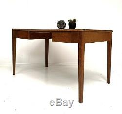 VINTAGE WOODEN WRITING DESK / KITCHEN DINING TABLE 1960 Ex MOD School / Factory