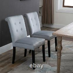 Velvet Dining Chair with Knocker/Ring Back Dining Room Kitchen Chairs Grey UK