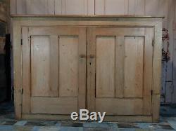 Very Large Vintage Antique Victorian Pitch Pine Kitchen Larder Linen Cupboard