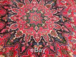 Very large antique vintage rug carpet wool 202 x 282 cm pers ian