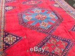 Very large antique vintage rug carpet wool 364 x 270cm cm pers ian VISS