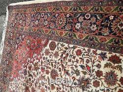 Very large huge antique vintage rug carpet wool 340 x 246 cm kes-hen heavy