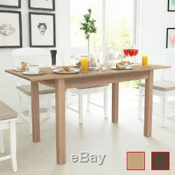 VidaXL Extending Dining Table Kitchen Home Light/Dark Brown 120/160x70x76.5 cm