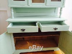 Vintage 1930s Hungarian Original Shabby Chic Dresser, Duck Egg Blue