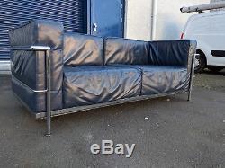 Vintage 1970s Le Corbusier leather sofa from Harrods retro modernist heals
