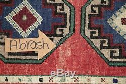 Vintage 2x4 Geometric Oushak Turkish Oriental Area Rug Hand-Knotted WOOL Carpet