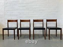 Vintage 4 x Poul Volther For Frem Rojle Dining Chairs. Danish Retro Hans Olsen