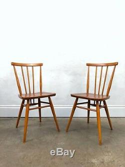Vintage 60's Ercol 2 x 391 Dining Chairs. Retro Danish. DELIVERY