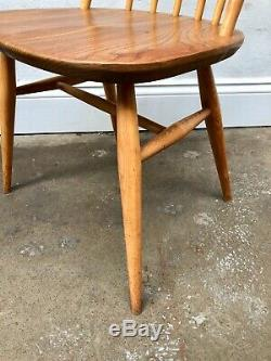 Vintage 60's Ercol 4 x Blonde Windor Dining Chairs. Retro Danish. DELIVERY