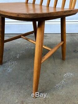 Vintage 60's Farstrup 6 x Teak Stick Back Danish Dining Chairs. Retro. DELIVERY