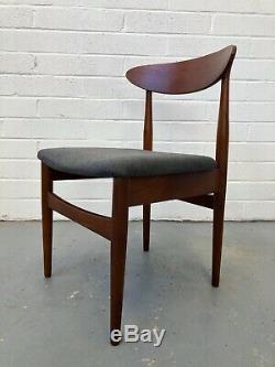 Vintage 60s Younger Teak Danish Dining Chairs. Hans Olsen Wegner G Plan Retro