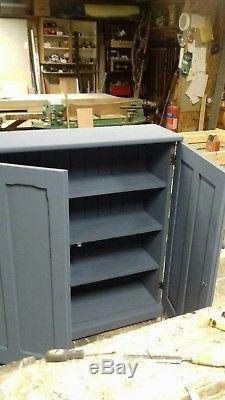 Vintage Antique Refurbished Old School Pitch Pine Shabby Chic Cupboard Bookshelf