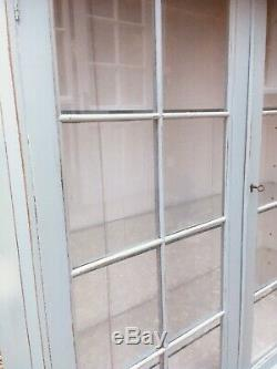 Vintage China Display Cabinet Painted Shabby Chic Duck Egg Blue